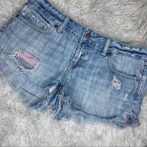 VS Pink | Distressed Denim Shorts